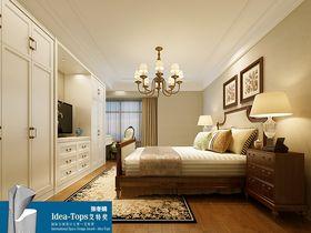 豪华型130平米三室一厅现代简约风格卧室图片大全