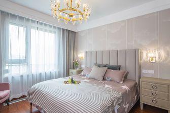 130平米三室一厅美式风格卧室图