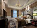 140平米三英伦风格卧室装修案例