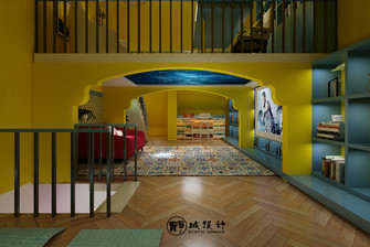 20万以上140平米别墅英伦风格影音室装修效果图