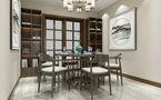 130平米四室两厅新古典风格餐厅图
