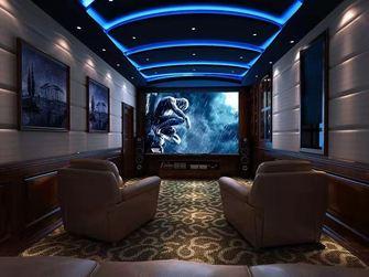 100平米三室三厅美式风格影音室装修案例