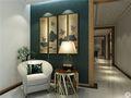 130平米三室两厅中式风格阳光房设计图