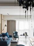 100平米三室两厅现代简约风格客厅背景墙图