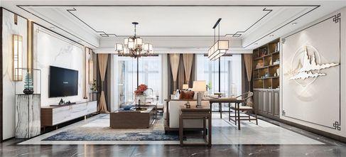 120平米三中式风格客厅设计图