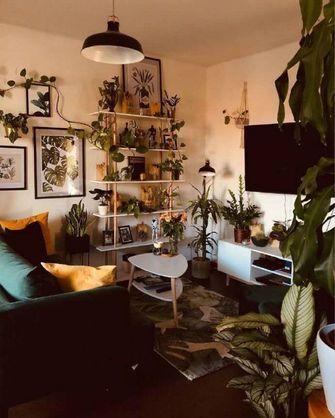 100平米一室一厅田园风格客厅装修案例