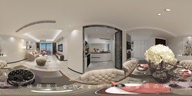 80平米三室兩廳現代簡約風格餐廳欣賞圖