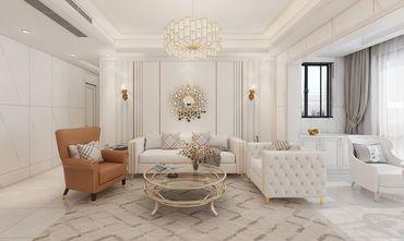 120平米三室三厅混搭风格客厅欣赏图
