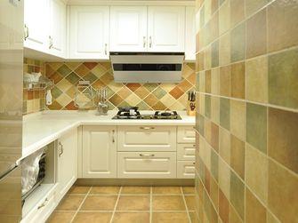 100平米三室三厅田园风格厨房图