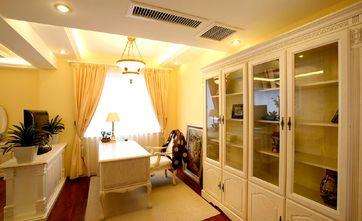 140平米三室两厅欧式风格书房背景墙图