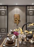 3-5万120平米三室一厅中式风格餐厅背景墙装修效果图