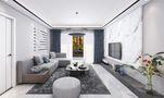 120平米三室三厅混搭风格客厅图片