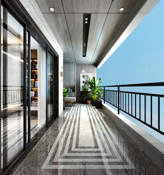 140平米三室两厅新古典风格阳台装修效果图