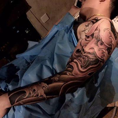 花臂般若纹身图