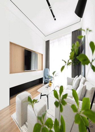 130平米四宜家风格客厅图片