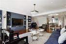 140平米三室一厅混搭风格客厅图片