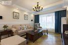90平米美式风格客厅沙发图