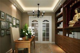 100平米三室两厅田园风格书房装修图片大全