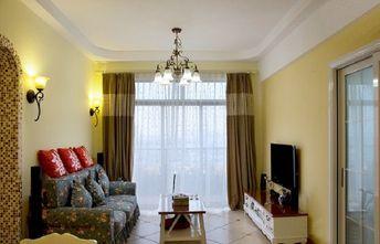 60平米地中海风格客厅图片