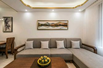 100平米中式风格客厅设计图