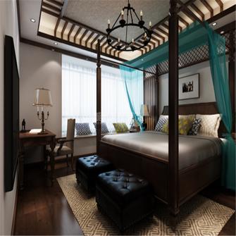 140平米四室两厅东南亚风格卧室图片大全