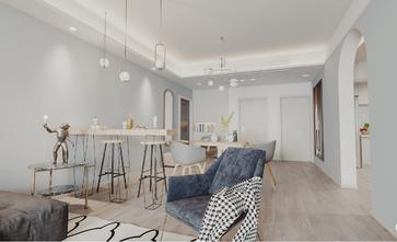 130平米四室两厅北欧风格餐厅设计图