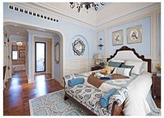 120平米三室一厅田园风格卧室图片大全