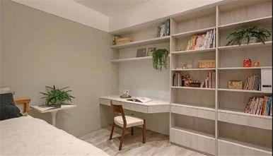 130平米三室一厅日式风格书房图片大全