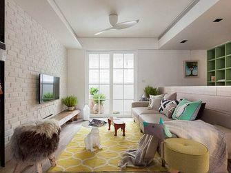 80平米三室一厅田园风格客厅图