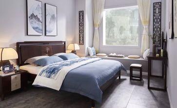 110平米三室三厅中式风格卧室装修案例