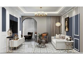 120平米三室两厅美式风格客厅图片