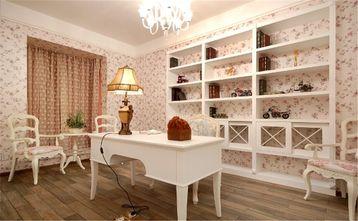 富裕型130平米四室一厅田园风格书房图片