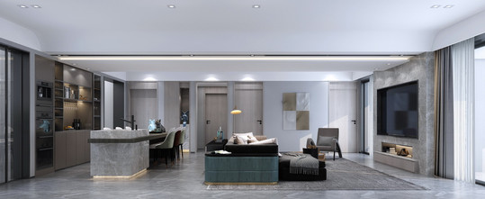 140平米四室两厅现代简约风格客厅装修图片大全