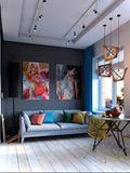 30平米超小户型混搭风格客厅装修图片大全
