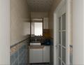 80平米三室两厅北欧风格卫生间装修图片大全