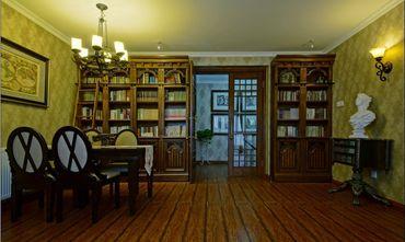 富裕型110平米三室三厅地中海风格餐厅图片大全