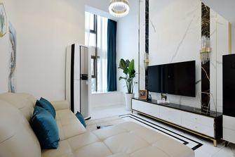 80平米复式现代简约风格客厅装修效果图