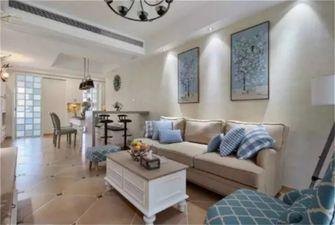 80平米三室一厅美式风格客厅设计图