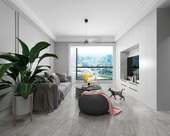 60平米一室一厅混搭风格客厅装修效果图