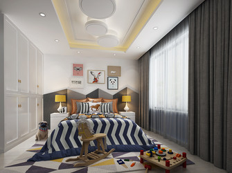 140平米别墅混搭风格儿童房装修图片大全