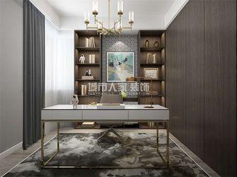 100平米三室两厅现代简约风格书房设计图