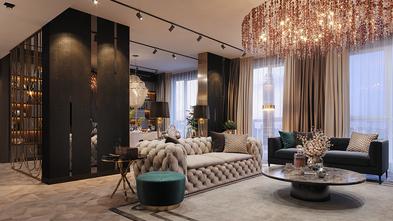 140平米四室三厅混搭风格客厅装修效果图