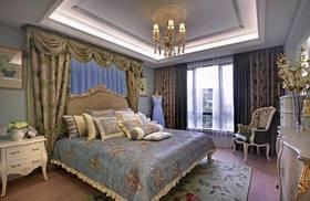 120平米三室兩廳法式風格臥室裝修案例