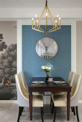 100平米三室兩廳現代簡約風格餐廳效果圖