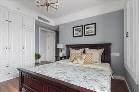 120平米三室兩廳美式風格臥室欣賞圖