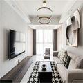 120平米四室一厅混搭风格客厅图片大全