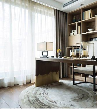 80平米三室五厅中式风格书房装修案例