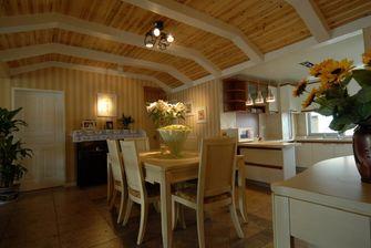 经济型130平米三室三厅田园风格厨房图