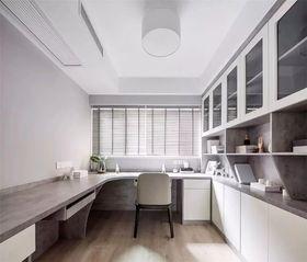 120平米四室兩廳現代簡約風格書房設計圖