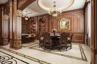 140平米别墅英伦风格餐厅效果图